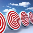Stock Photo: Red targets sky