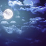 Halloween moon wide — Stock Photo