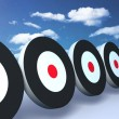 Stock Photo: Black targets sky