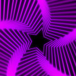 Star Radiation soft purple — Stock Photo