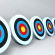 Stock Photo: Color targets white