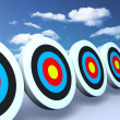 Stock Photo: Color targets sky