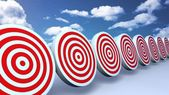 Red targets sky — Stock Photo