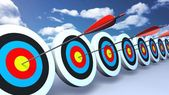 Color targets and arrows sky — Stock Photo