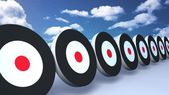 Black targets sky — Stock Photo
