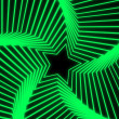 Star Radiation green — Stock Photo #27835107