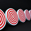 Stock Photo: Red targets black