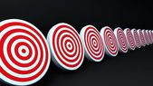Red targets black — Stock Photo