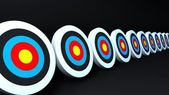 Color targets black — Stock Photo