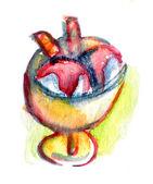 Dessin aquarelle de crème glacée — Photo