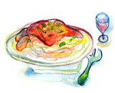 Posiłek stek z czerwonego wina — Zdjęcie stockowe