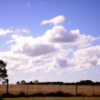 Country side with beautiful cloudy sky — Stock Video