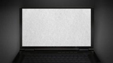 白皮书在笔记本计算机上 — 图库视频影像