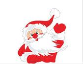 Santa Claus say hello — Stock Photo