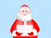 Happy Santa Claus holding a signage board — Zdjęcie stockowe