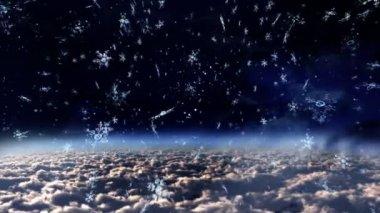 Dünya'ya düşen kar patlaması — Stok video