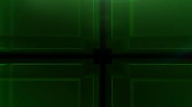 Digital green Cube hd — Stock Video