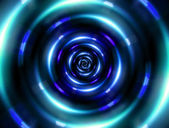 Ring tunnel blue — Stock Photo