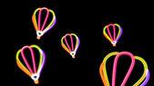 Laranja luz balão de Nero — Fotografia Stock