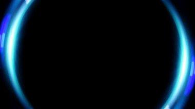 Barra de sinalização azul lente anel — Vídeo stock