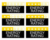 Energie rating — Stockfoto