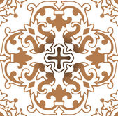Classical flower graphic for unlimited repeat to larger pattern — Stock Photo