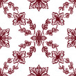 Stock Photo: Classical red flower graphic for unlimited repeat to larger patt