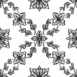 Stock Photo: Classical black flower graphic for unlimited repeat to larger pa