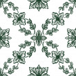 Stock Photo: Classical green flower graphic for unlimited repeat to larger pa
