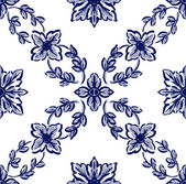 Classical blue flower graphic for unlimited repeat to larger pat — Stock Photo