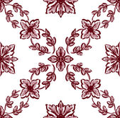 Classical red flower graphic for unlimited repeat to larger patt — Stock Photo