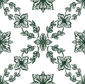 Classical green flower graphic for unlimited repeat to larger pa — Stock Photo
