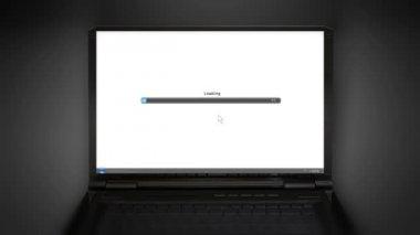 Loading laptop screen laptop screen — Stock Video