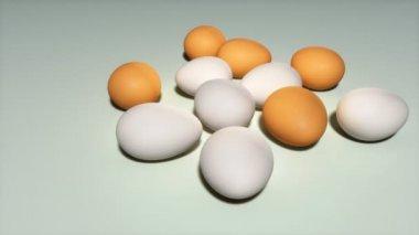Easter eggs background — Stock Video