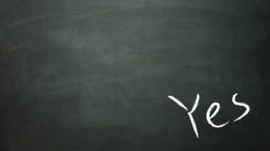 Yes and no concept on blackboard — ストックビデオ