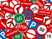 Road signage overlap — Stock Photo