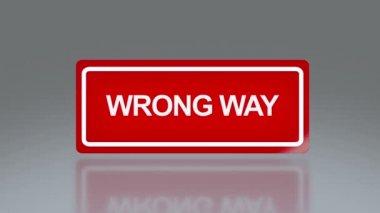 Segnaletica del rettangolo del modo sbagliato — Video Stock