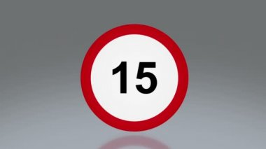 Road sign speed limit — Stockvideo