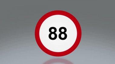 Road sign speeding — Stock Video
