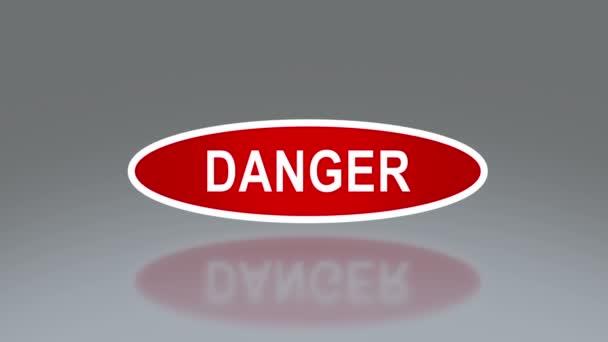 Ovale signalisation de danger — Vidéo