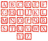 Stempel buchstaben — Stockfoto