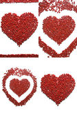 Hearts made of beads — Stock Photo