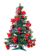 Christmas tree with star on white — Stock Photo