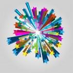Звезды всплеск вектор — Cтоковый вектор