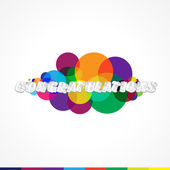 Colorful Modern Abstract Congratulations Card — Stock Vector