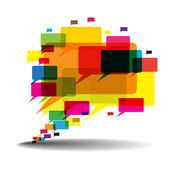 Talk Balloon Abstract — Stock Vector