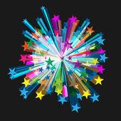Vector Star Burst — Stock Vector