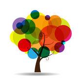 Abstrait arbre sticker mural autocollant — Vecteur