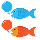 Talking Fish — Stock Vector