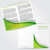 Brochure Design Template Vector — Stock Vector